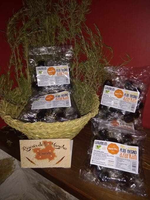 Comprar caramelos de miel ajo negro y azafran