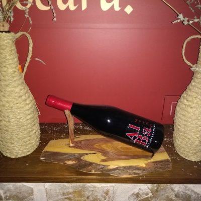 Soporte botella en madera