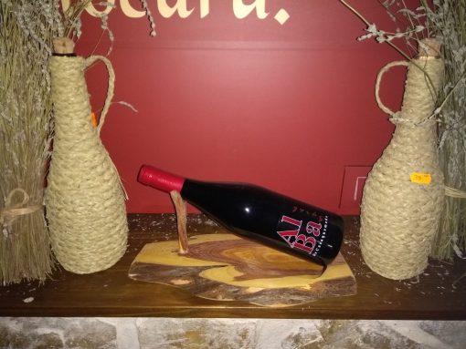 Comprar soporte de madera para botella de vino