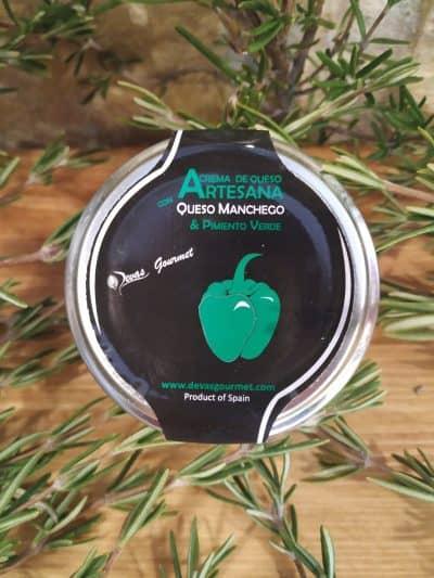 Crema de Queso con Pimiento Verde