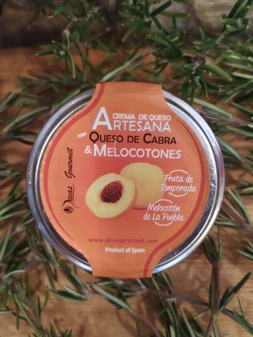 Crema de Queso con Melocoton